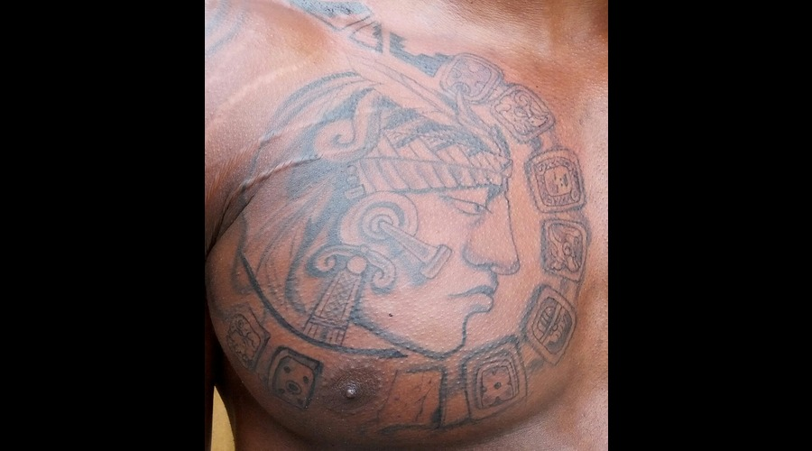 Mayan Warrior Tattoo Black White