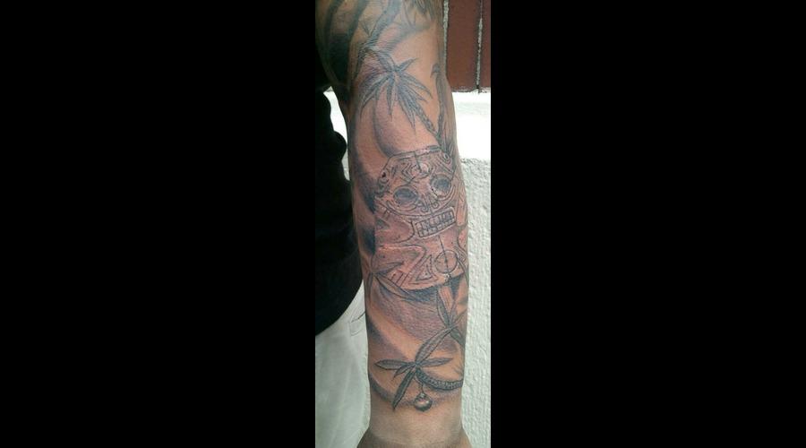 Dominican Republic Pride Tattoo  Taino Tattoo Black White
