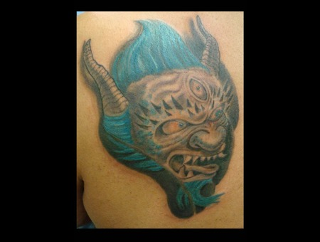 Oni Head  Oni Tattoo Color