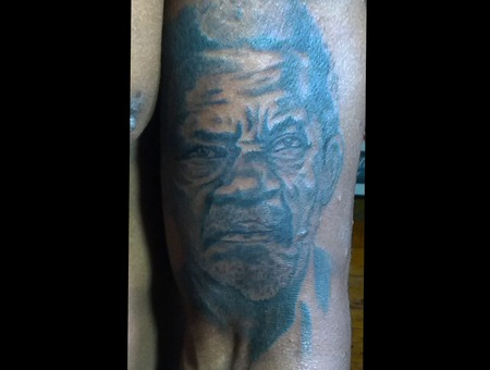 Portrait Tattoo Black White