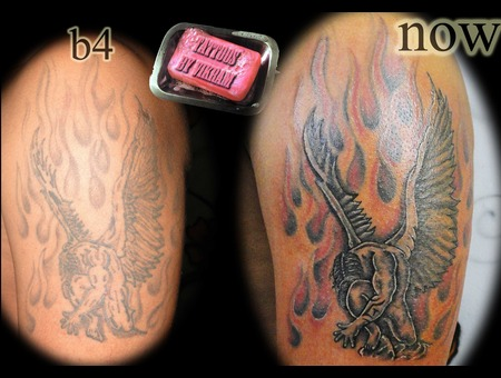 Cover Up Coverup Angel Guardian Angel Vikram Flames Color