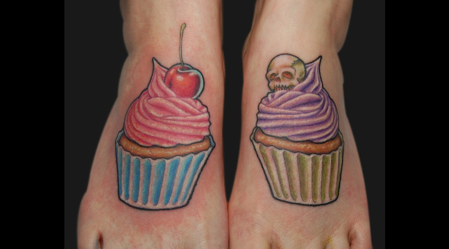 Cupcakes  Icing  Cherry  Skull Color