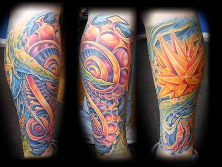 Bio  Mechanical  Tattoo   Color