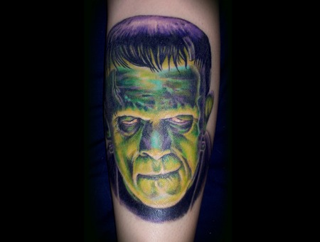 Frankenstein  Tattoo  Monsters  Color  Portrait Color