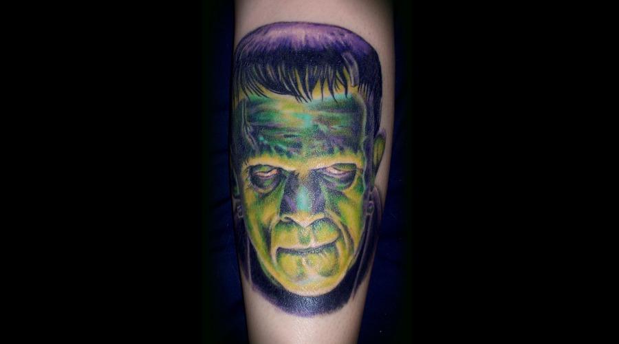 Frankenstein  Tattoo  Monsters  Color  Portrait Color