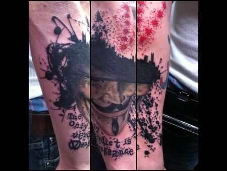 V For Vendetta Color Forearm