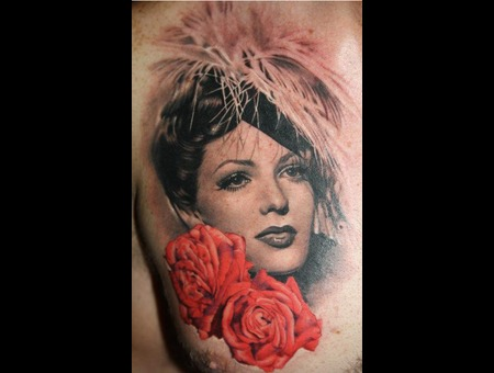 Portrait  Flowers  Realism Color