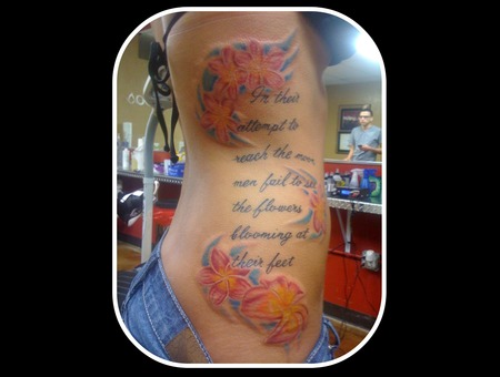Flowers Script Quote Color