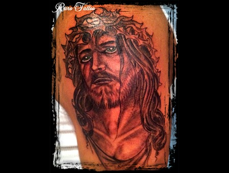 Jesus  Sleeve  God  Religious  Tattoo Black White