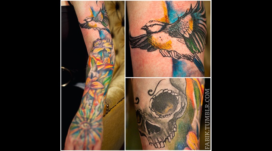 Sleeve  Color  Skull  Bird  Flower  Eye  Healed Color