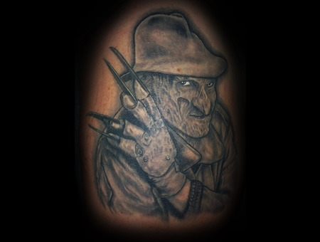 Freddy  Nightmare On Elm St.  Horror  Portrait Black White