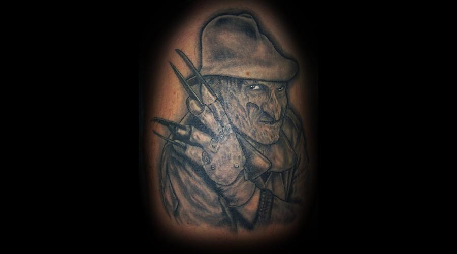 Freddy  Nightmare On Elm St.  Horror  Portrait Black White