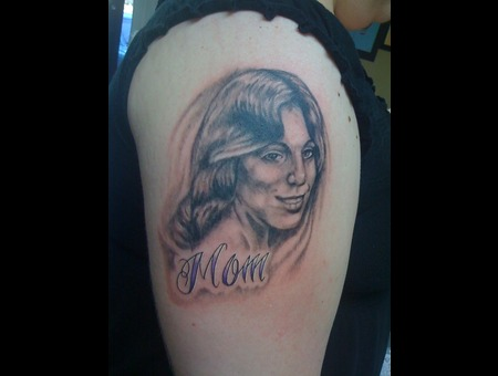 Mom Portrait Black Grey