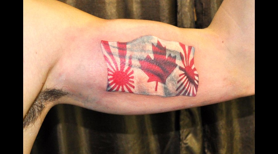 Mixed Flag  Inner Arm Tattoo Color