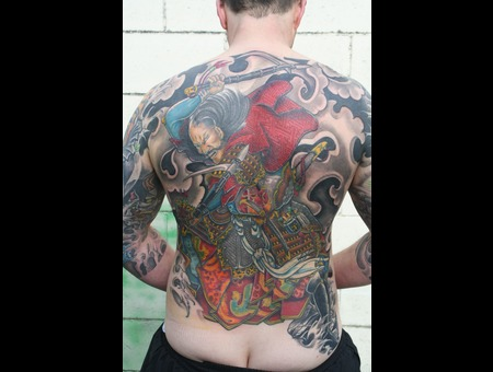 Japanese  Backpiece  Samurai  Irezumi  Horimono Color Back