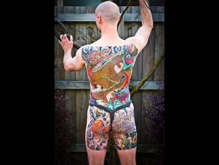 Japanese  Backpiece  Dragon  Irezumi  Horimono Color Back
