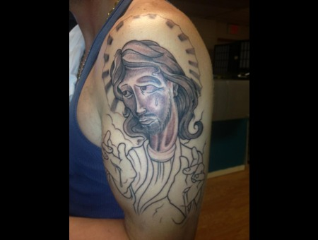 Flash  New School  Jesus  Unfinished Black White