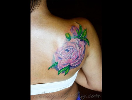 Peony  Realistic Flower  Shoulder Flower  Brush Realism