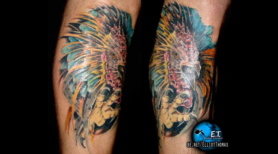 Fighting Rooster  Calf Piece  Rooster  Bright Color Color