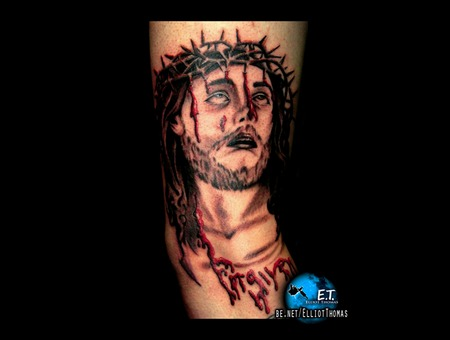 Jesus  Forearm Tattoo  Crucifix Black White