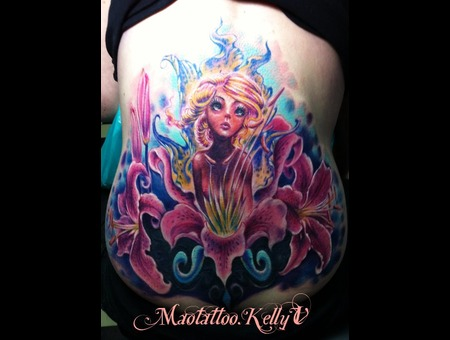 Fairy  Cover Up  Lily  Flower  Cover Up Color Back