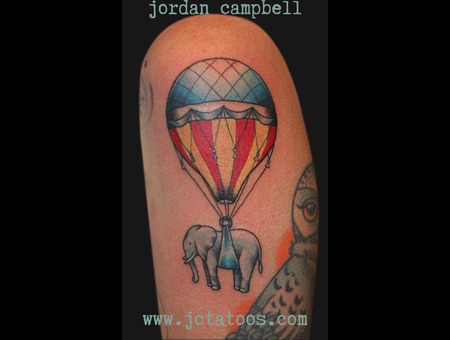 Air Balloon  Elephant Color