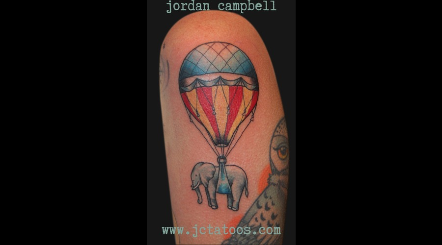Air Balloon  Elephant Color