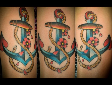 Anchor Tattoo Color