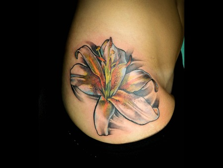 Flower Tattoo Color