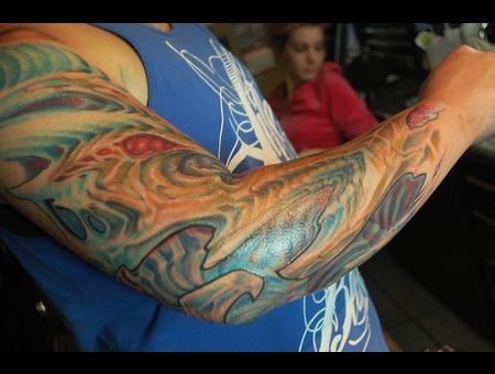 Biomech  Blue  Arm  Color