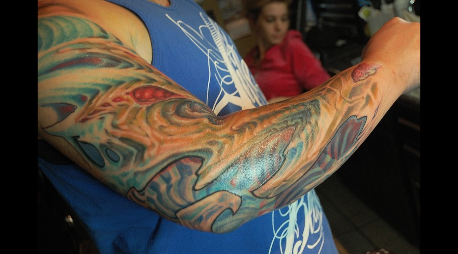 Biomech  Blue  Arm  Color