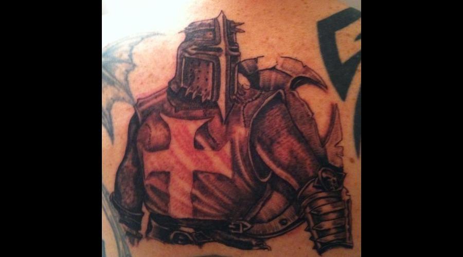 Templar  Knight  Medieval  Black Grey Back