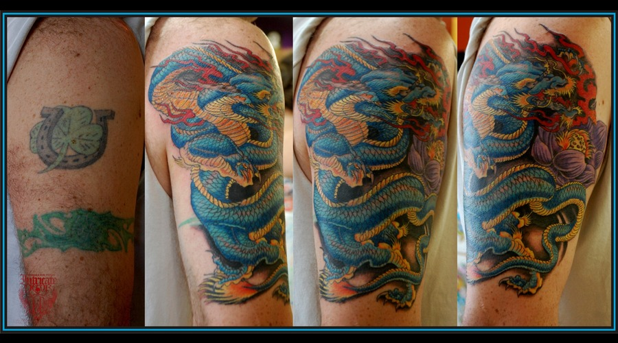 Coverup Oriental Dragon Color Arm