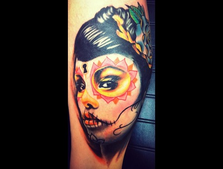 Day Of The Dead  Dia De Los Muertos  Portrait  Color