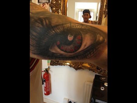 Eye Black&Grey Realistic Clock Abstract Black White