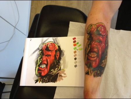 Hellboy Comic Cartoon Colour Custom Fusion Inks  Color