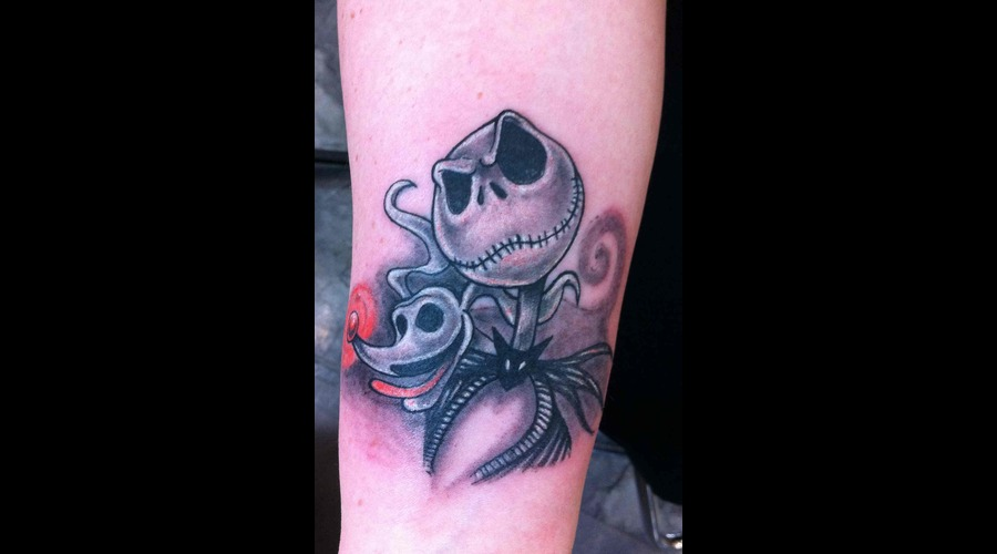 Jack Skelington Color Forearm