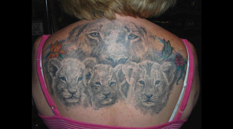 Lion  Cubs Black Grey Back