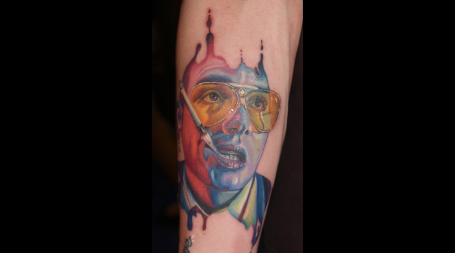 Portrait/Movie Fear And Loathing Hunter S Thompson Johnny Depp
