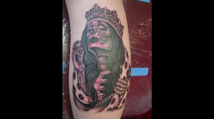 Skull Queen Dead Girl Black Grey