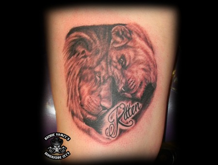 Black White Thigh