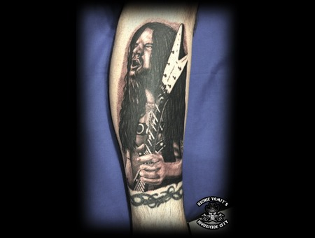 Black White Lower Leg