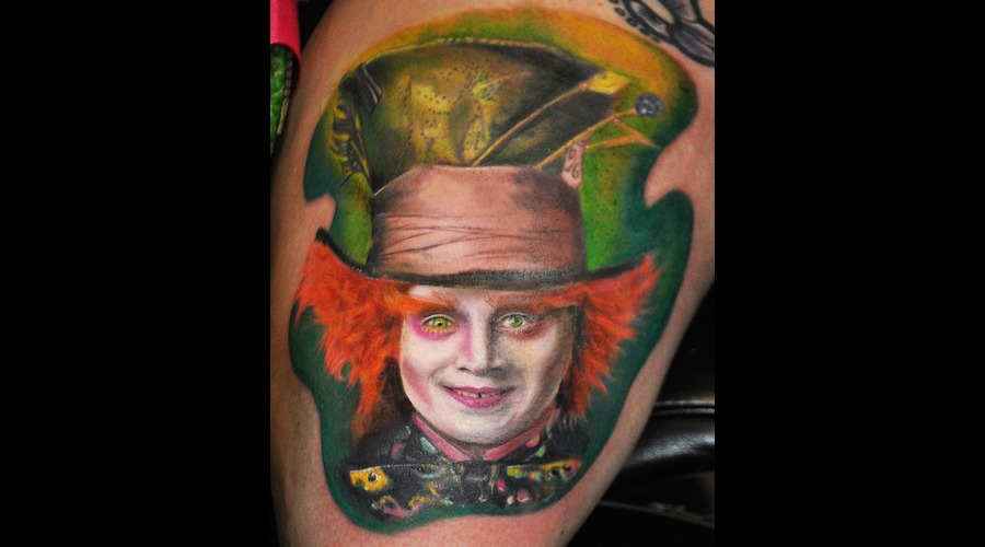Portrait  Versago  Depp  Mad Hatter  Color Thigh