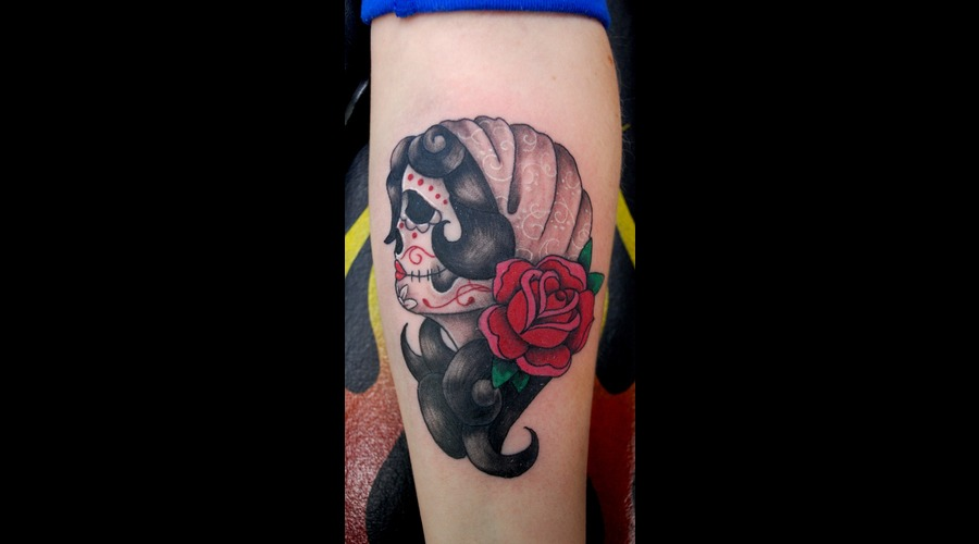 Muerta Gypsy Traditional Forearm Color Arm