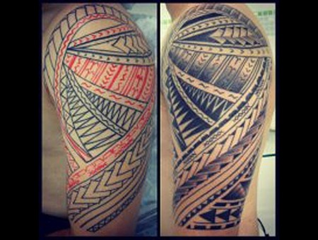 Samoan Tattoo  Maori Tattoo Polynesian Tattoo Black White