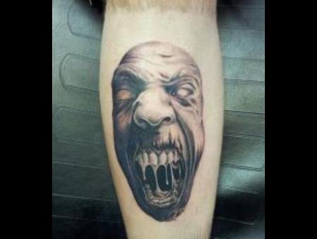 Zombie Black Grey Lower Leg