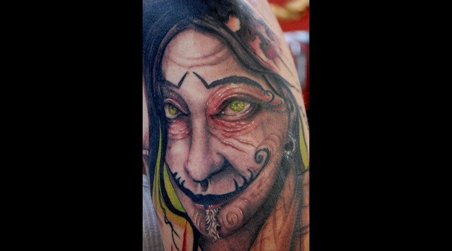 Creepy Scars Face  Color Arm