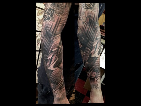 Graffiti  Nyc  Sleeve Black White