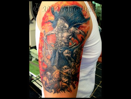 Frazetta Death Dealer Warrior Cover Up Fantasy Color