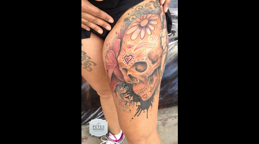 Sugar Skull Color Hip